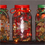 Lighted Christmas Jars